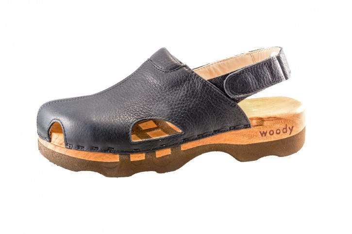 Woody Holzclogs London schwarz Herren