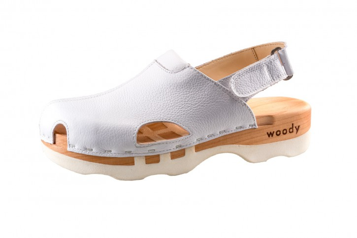 Woody Holzclogs London weiss Herren