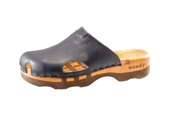 Woody Holzclogs Lissabon schwarz für Damen & Herren