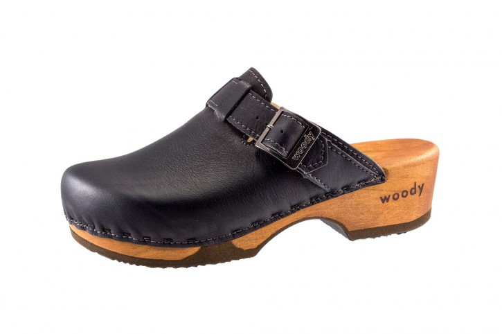 Woody Holzclogs Manu nero