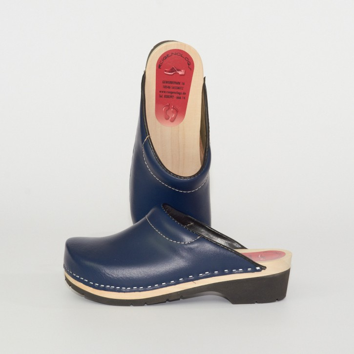 PU Clogs marineblau