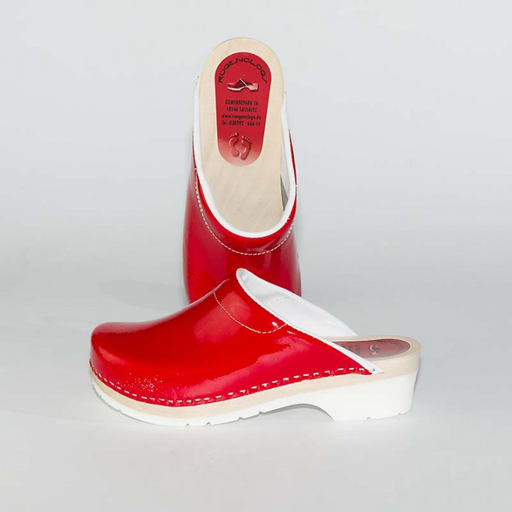 PU Clogs rot Lack old school