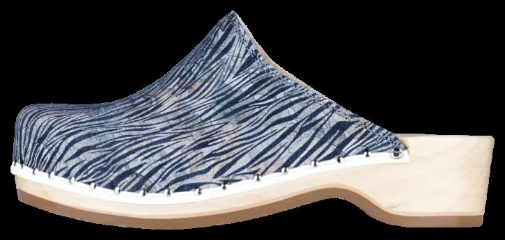 Berkemann Holzclogs Natur Toeffler side brush stroke jeans