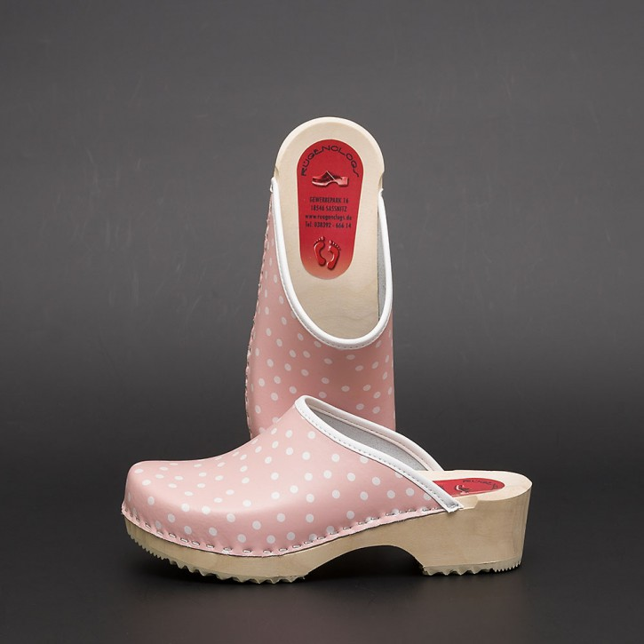 Clogs Holzclogs rosa Punkte