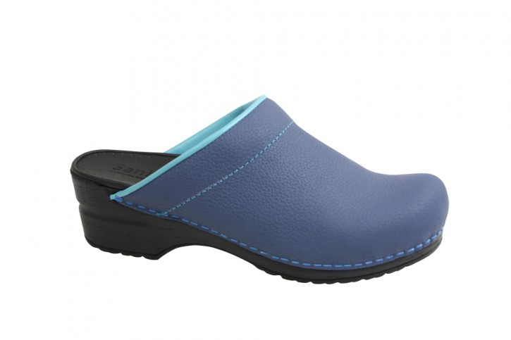 Sanita PU Clogs Original Eden-Open navy für Damen 38