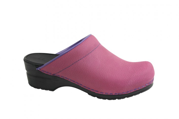 Sanita PU Clogs Original Eden-Open fuchsia für Damen 38