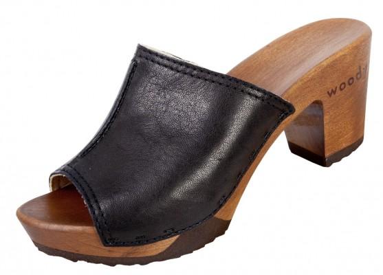 Woody Holzclogs Elly nero für Damen