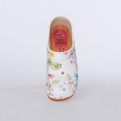 Clogs Holzkaps Blume