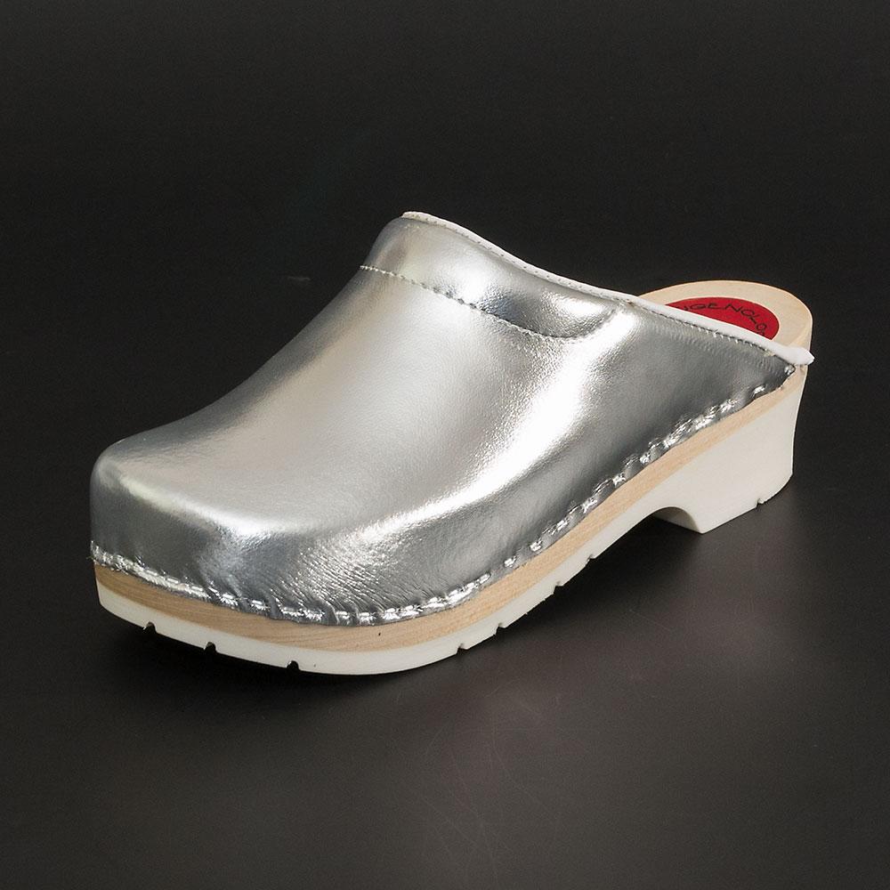 neue Liste gut kaufen Neueste Mode silberne clogs haus
