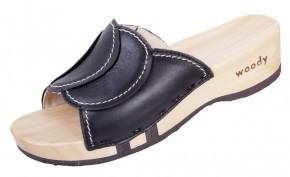 Woody Holzpantolette Vanessa schwarz für Damen