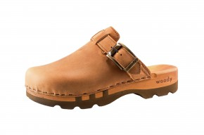 Woody Holzclogs Lukas cuoio Herren