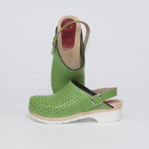 PU-Clogs grün Luftlöcher & Fersenriemen