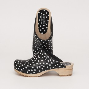Sanita Holzclogs Inger open black