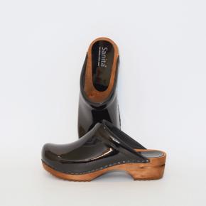 Sanita Holzclogs classic Clogs 457012 schwarz Lack
