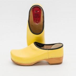 Clogs Holzkaps gelb