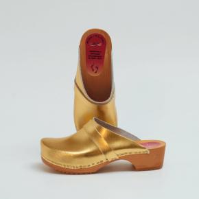 Clogs Holzclogs gold