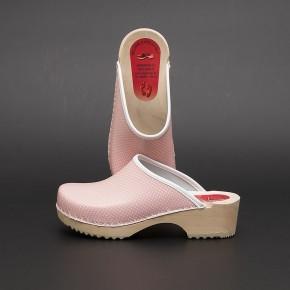 Clogs Holzclogs rosa Minipunkte