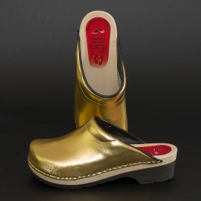 PU Clogs gold