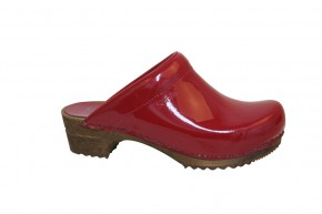 Sanita Holzclogs classic Clogs 457012-4 rot Lack
